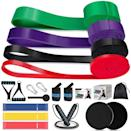 <p>Create the ultimate at-home gym with this <span>19 Piece Resistance Band Workout Set </span> ($20, originally $36). It contains four pull up/long resistance bands, three short loop resistance bands, two core sliders, a jump rope, two handles, a door anchor, and wrist wraps.</p>
