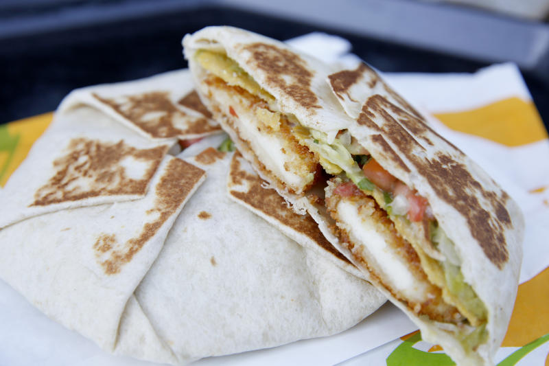 IRVINE, CA - DECEMBER 09: A brand known for innovation stateside, takes innovation abroad with Cyprus Halloumi Crunchwrap in European markets for a limited time. Photographed during the Taco Bell International Menu Tasting at Taco Bell Headquarters on December 9, 2019 in Irvine, California. (Photo by Rachel Murray/Getty Images for Taco Bell)
