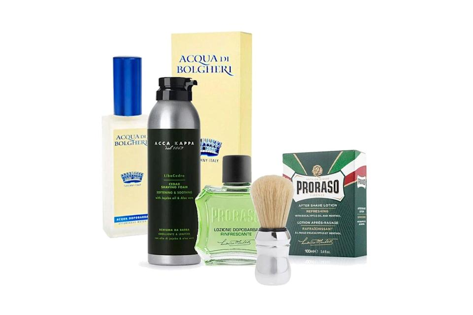 Various men's shaving products
