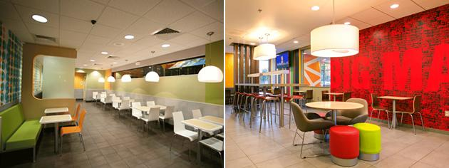 McDonald's restaurant interiors