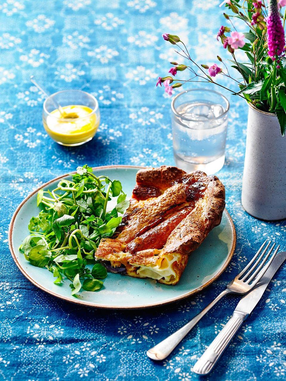 """<p>The trick to a good toad in the hole is letting the batter rest – and choosing the best sausages for you, whether meaty or veggie.<br></p><p><strong><a href=""""https://www.goodhousekeeping.com/uk/food/recipes/a29245476/veggie-toad-in-the-hole/"""" rel=""""nofollow noopener"""" target=""""_blank"""" data-ylk=""""slk:Recipe: Veggie Toad in the Hole Traybake"""" class=""""link rapid-noclick-resp"""">Recipe: Veggie Toad in the Hole Traybake</a></strong></p>"""