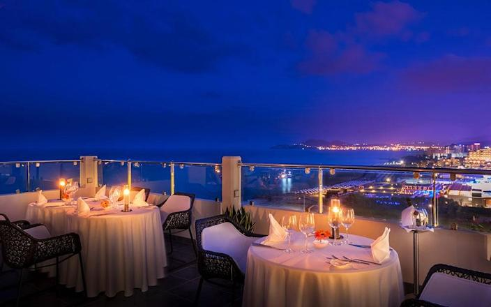 Gastronomes can sample daring degustatory designs at the sea-facing, candlelit Noble restaurant