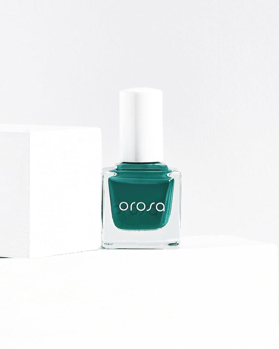<p>Deep, olive-green nail polish has been having a moment for months, but in 2021, we're going to see more vivid green shades start to pop up. Why the change, you ask? Miss Pop said the lively green hue signifies our rebirth. </p> <p>Try: <span>Orosa Seat 103 Nail Polish</span> ($12)</p>