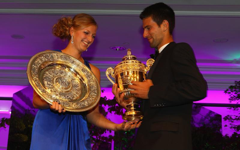 Kvitova and Djokovic won £2.2m combined back in 2011 - Credit: Getty Images