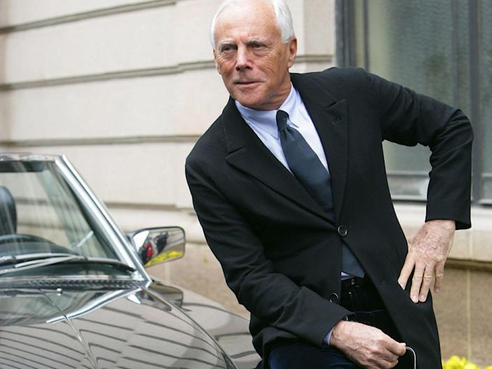 "Armani is one of the richest people in fashion. <p class=""copyright"">Reuters</p>"