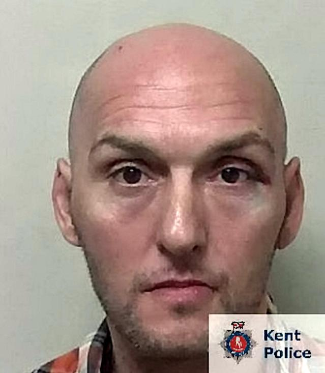 Giardina, 44, undertook a number of robberies across Kent – including one during which a victim was tied up while their home was ransacked – between July and September 2019. (SWNS)