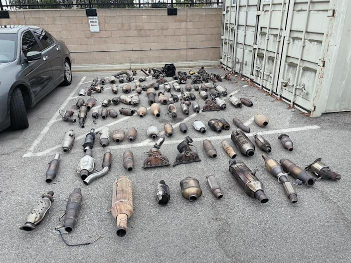 Torrance, Calif., police recovered 87 stolen catalytic converters in a three-week crackdown on the increasingly common crime in June.