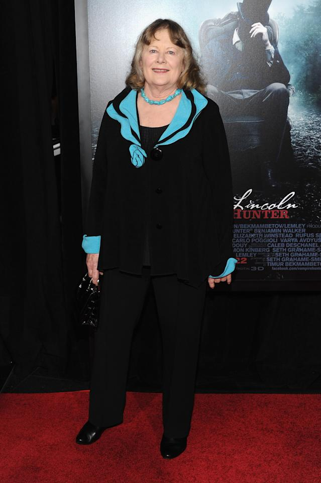 "NEW YORK, NY - JUNE 18:  Actress Shirley Knight attends the ""Abraham Lincoln: Vampire Hunter"" premiere at AMC Loews Lincoln Square on June 18, 2012 in New York City.  (Photo by Larry Busacca/Getty Images)"
