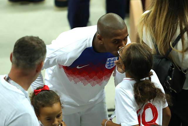<p>Ashley Young with his family. </p>