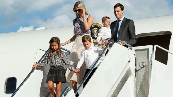 PHOTO: Ivanka Trump with her husband Jared Kushner and their children arrive at Morristown municipal airport, N.J., to spend a weekend with President Donald Trump in Bedminster, Sept. 15, 2017. (Yuri Gripas/Reuters)