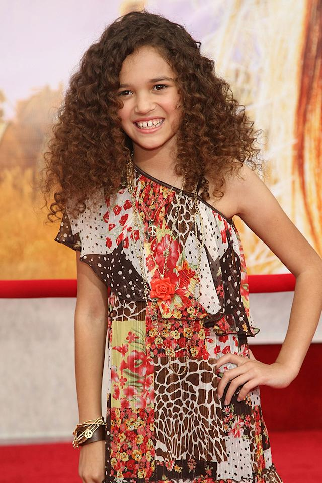 """<a href=""""http://movies.yahoo.com/movie/contributor/1809721424"""">Madison Pettis</a> at the Los Angeles premiere of <a href=""""http://movies.yahoo.com/movie/1810025272/info"""">Hannah Montana The Movie</a> - 04/02/2009"""