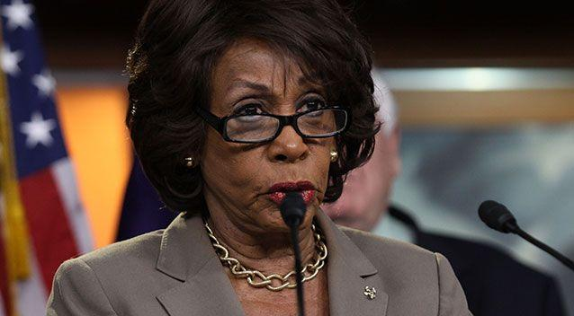 Congresswoman Maxine Waters said the document, which alleges the Russian state has compromising sexual and financial information on the US President, is said to be genuine. Picture: Lauren Victoria Burke/AP