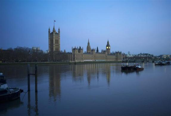 A view of the Houses of Parliament over the River Thames in London March 8, 2012.