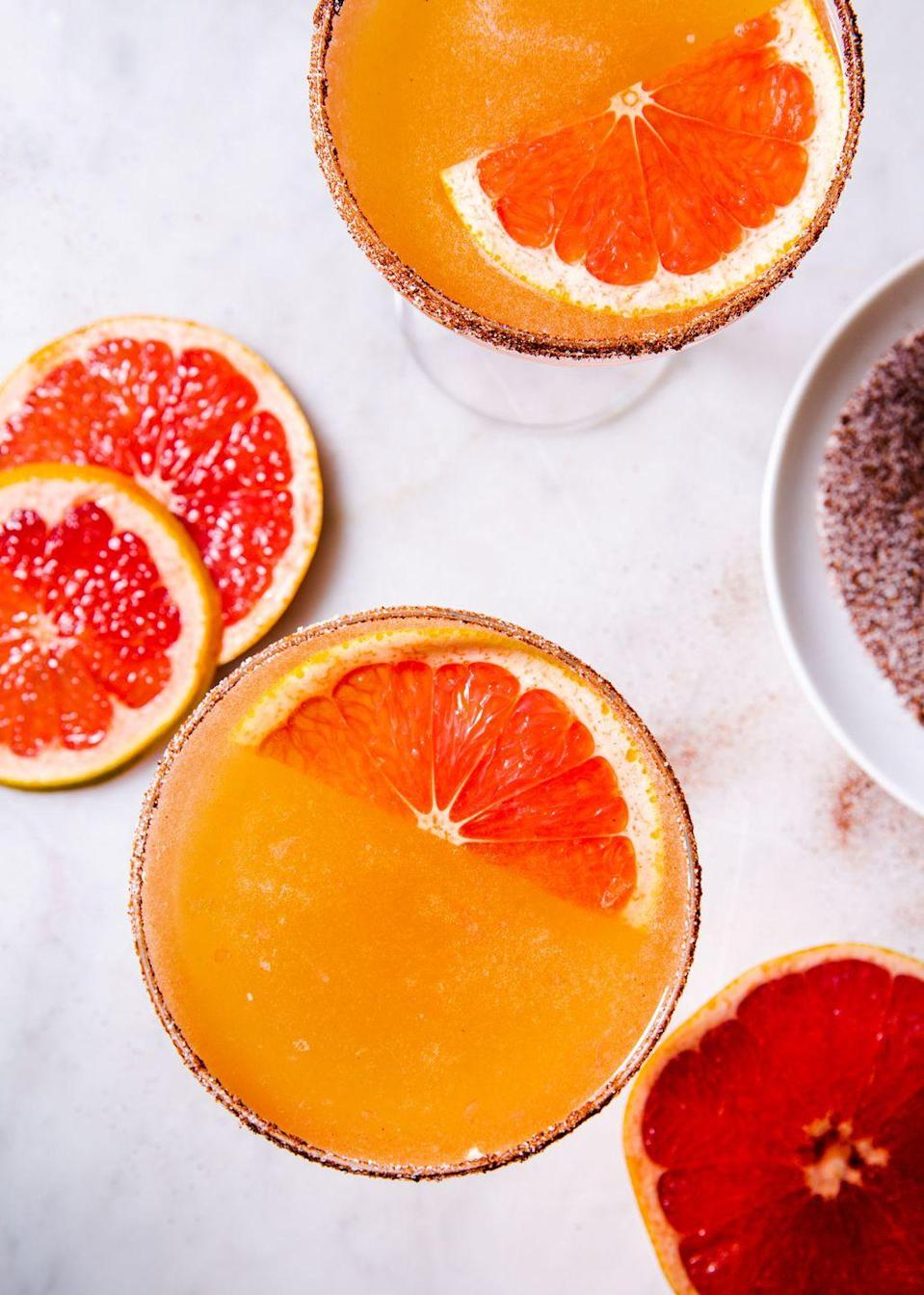 """<p>This unique cocktail might become your new go-to.</p><p>Get the recipe from <a href=""""https://www.delish.com/cooking/recipe-ideas/a30149814/grapefruit-sidecar-recipe/"""" rel=""""nofollow noopener"""" target=""""_blank"""" data-ylk=""""slk:Delish"""" class=""""link rapid-noclick-resp"""">Delish</a>.</p>"""