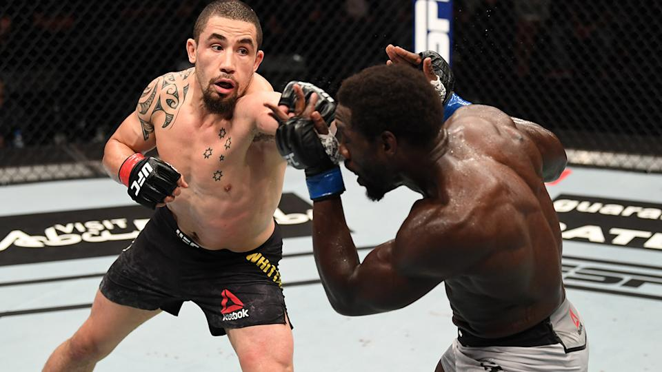 UFC star Robert Whittaker says he's open to fighting former NRL star Paul Gallen - for the right price. (Photo by Josh Hedges/Zuffa LLC via Getty Images)