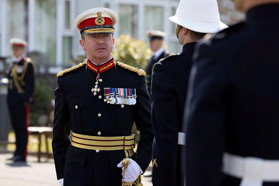 Police seized a licensed firearm from the Hampshire home of former head of the Royal Marines Major General Matthew Holmes just days before his death (Ministry of Defence/PA) (PA Media)