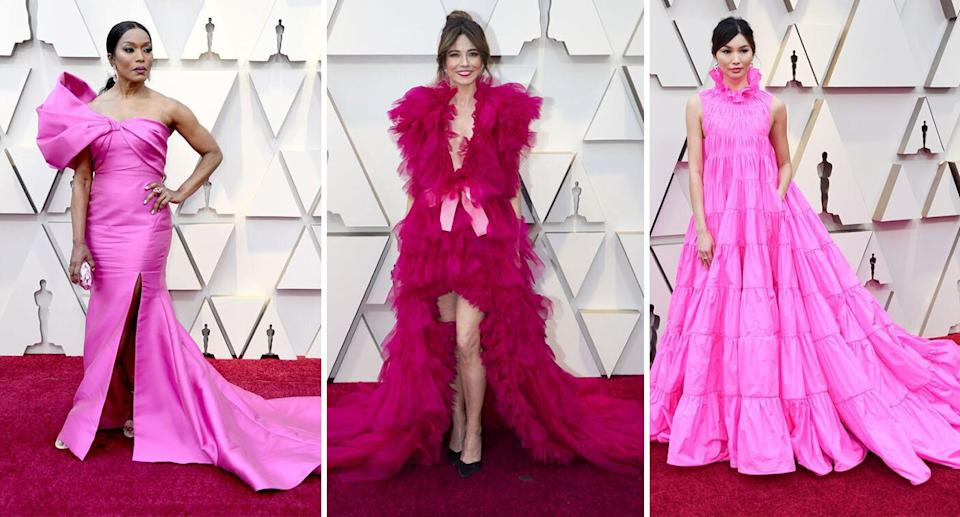 Pink dresses dominated at the Oscars 2019. [Photo: Getty]