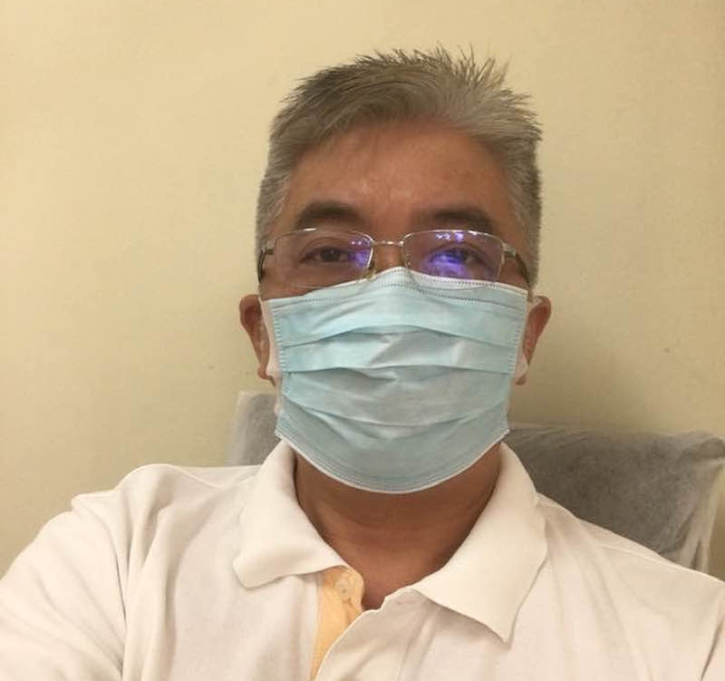 Dr Boo Cheng Hau said that he is making a good recovery after spending time in quarantine. — Picture via Facebook/Boo Cheng Hau