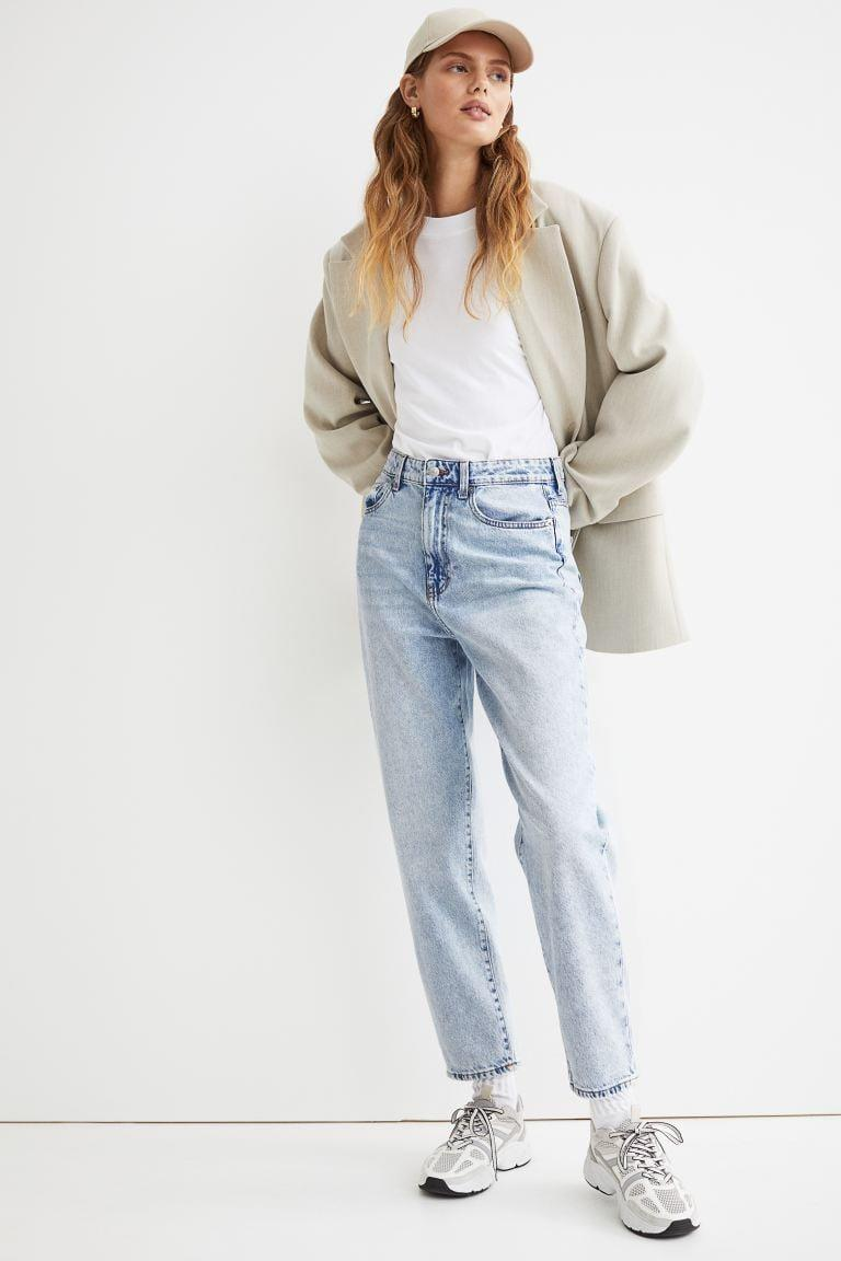 <p>We're loving these <span>H&amp;M Mom Loose-Fit Ultra High Jeans</span> ($20) right now. The vintage wash is so cool, too.</p>