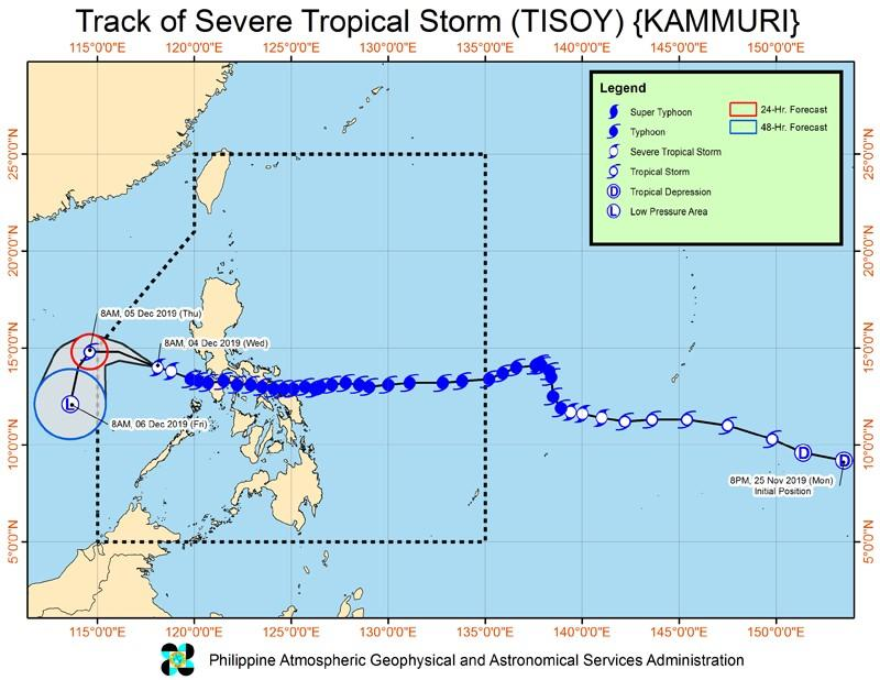 Pagasa lifts all storm signals; 'Tisoy' continues to weaken