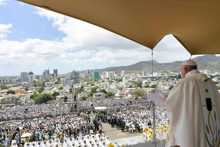 Organisers estimate 100,000 attended the service (AFP Photo/Handout)