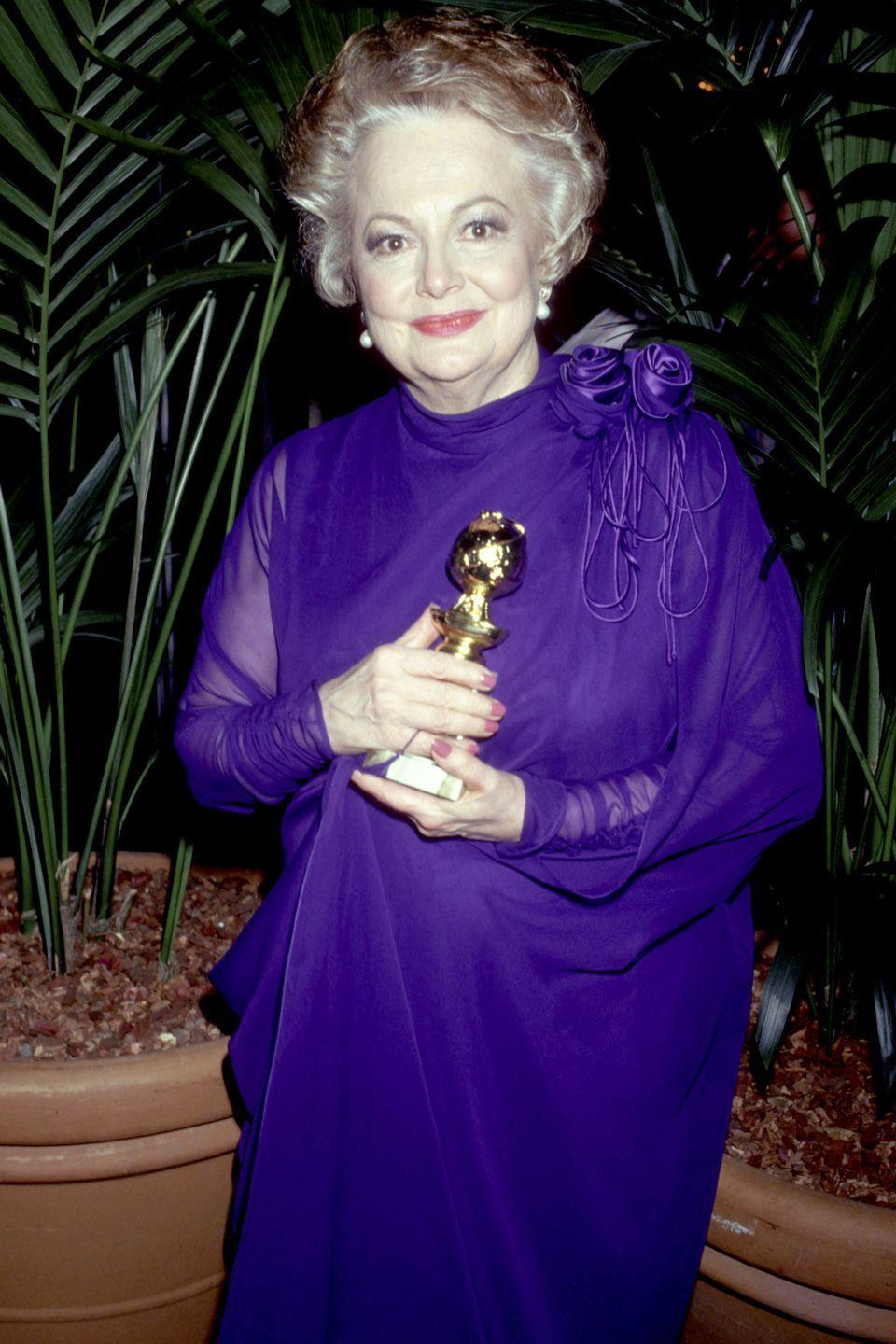 <p>At the Golden Globe Awards, where she won Best Performance by an Actress in a Supporting Role in a Series, Miniseries or Motion Picture Made for Television for her performance in <em>Anastasia: The Mystery of Anna</em>.</p>