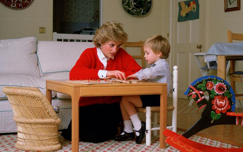 Diana, Princess of Wales, with Prince William