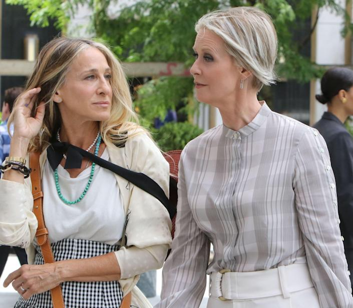 Sarah Jessica Parker and Cynthia Nixon in <em>And Just Like That...</em>
