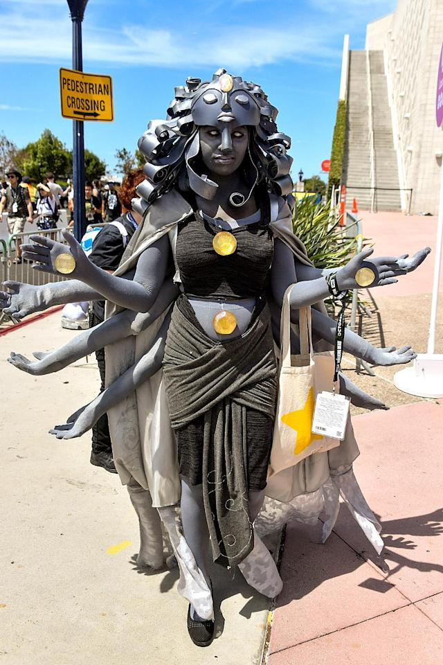 <p>Cosplayer at Comic-Con International on July 21, 2018, in San Diego. (Photo: Dia Dipasupil/Getty Images) </p>