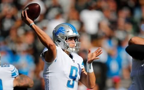 <span>Detroit Lions quarterback Matthew Stafford has been in great form</span> <span>Credit: AP </span>