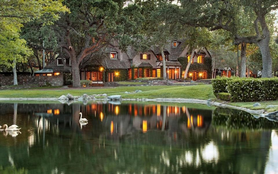 The main house at Neverland Ranch - www.suzanneperkins.com