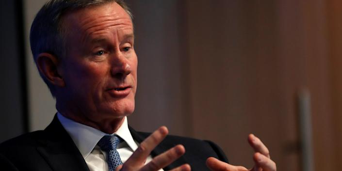 Retired U.S. Navy Admiral William McRaven, the former head of U.S. special operations who oversaw the raid on Osama bin Laden, speaks at a Reuters Newsmakers event in New York City, New York, U.S., May 22, 2019. REUTERS/Mike Segar