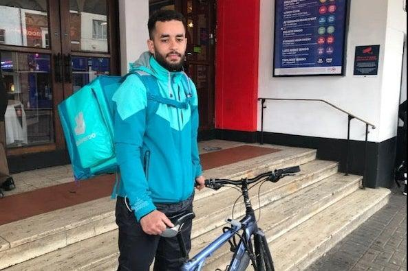 <p>Rider Carlos Pereria, 26, who has joint Portuguese and British nationality, said: 'I think we are being victimised'</p> (John Dunne)