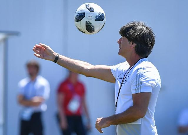 Germany coach Joachim Loew faces a crunch match against Sweden (AFP Photo/Nelson Almeida)