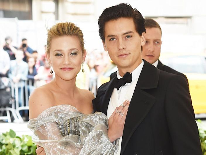 Lili Reinhart and Cole Sprouse at the Met Gala 2018