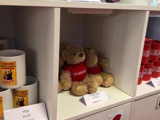 Teddy bears on sale at Labour Party conference 2021 (Photo: HuffPost UK)