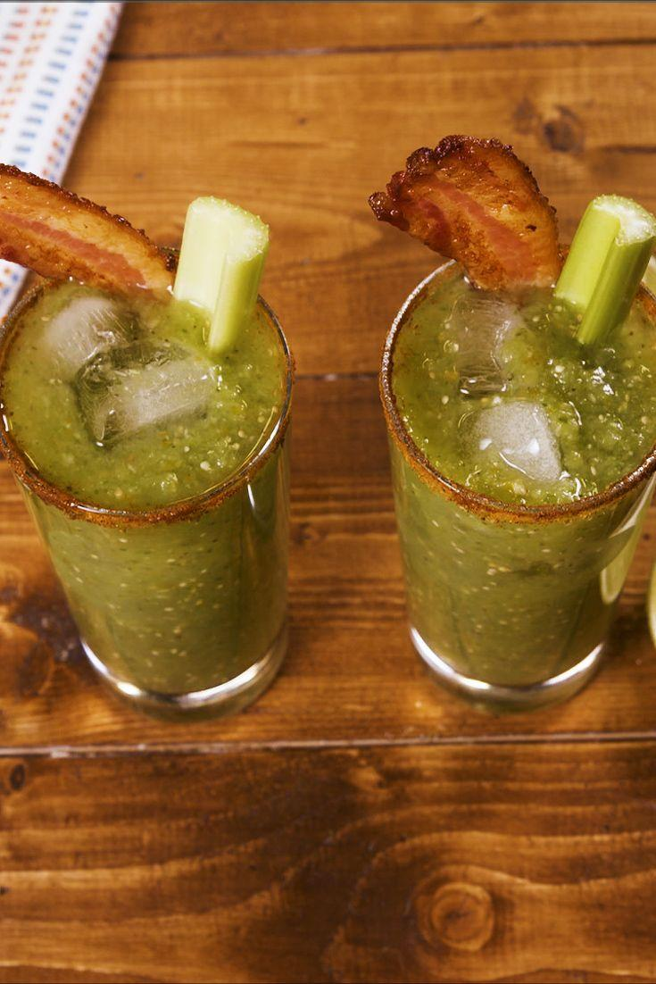 """<p>Just as good as the classic, but made with tomatillos.</p><p>Get the recipe from <a href=""""https://www.delish.com/cooking/recipe-ideas/a29416624/green-bloody-mary-recipe/"""" rel=""""nofollow noopener"""" target=""""_blank"""" data-ylk=""""slk:Delish"""" class=""""link rapid-noclick-resp"""">Delish</a>.</p>"""