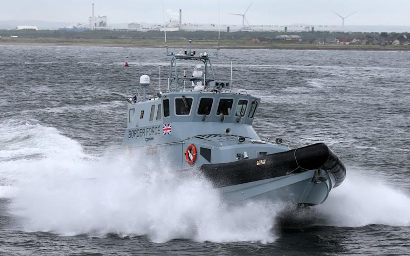 A Border Force coastal patrol vessel near Troon harbour. - PA Archive