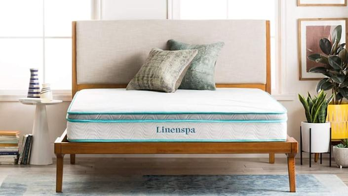 This mattress from Linenspa costs less than date night.