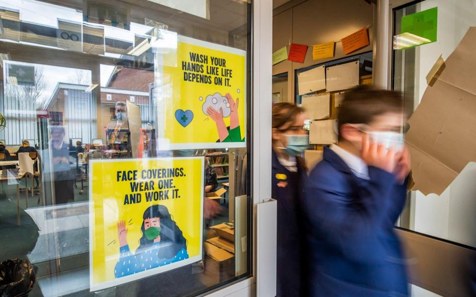 Secondary school students will now be expected to wear face masks in classrooms - but it is not mandatory - Bloomberg