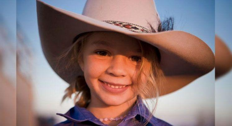 Dolly was the face of Akubra Hats as a child. Source: Facebook/Akubra Hats