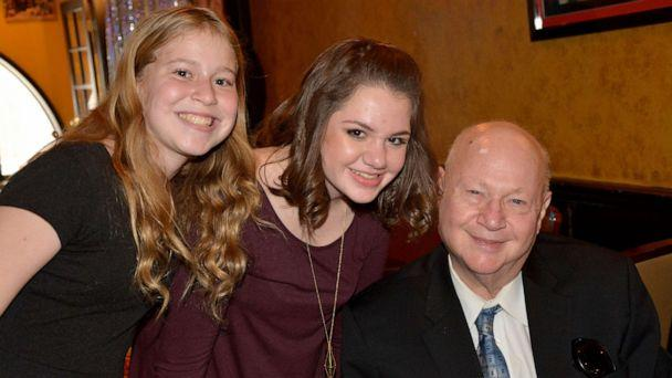 PHOTO: Carol Ackerman's father Stanley J. Teich, who passed away in April at 79, poses with two of his granddaughters. (Carol Ackerman)