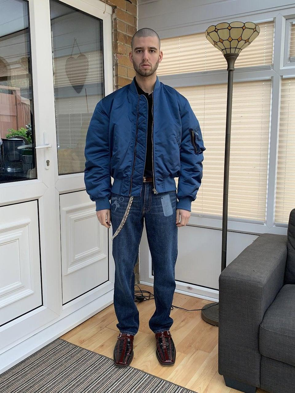"""$1,000+ is a lot to spend on a Father's Day gift, we know that. But this reversible bomber (the inside is orange) is not only a twofer gift, it's also something your dad can wear and cherish forever. <br> <br> <strong>Martine Rose</strong> Bomber Jacket, $, available at <a href=""""https://go.skimresources.com/?id=30283X879131&url=https%3A%2F%2Fwww.martine-rose.com%2Fproducts%2Fbomber-jacket-nylon-in-navy%23i0"""" rel=""""nofollow noopener"""" target=""""_blank"""" data-ylk=""""slk:Martine Rose"""" class=""""link rapid-noclick-resp"""">Martine Rose</a>"""