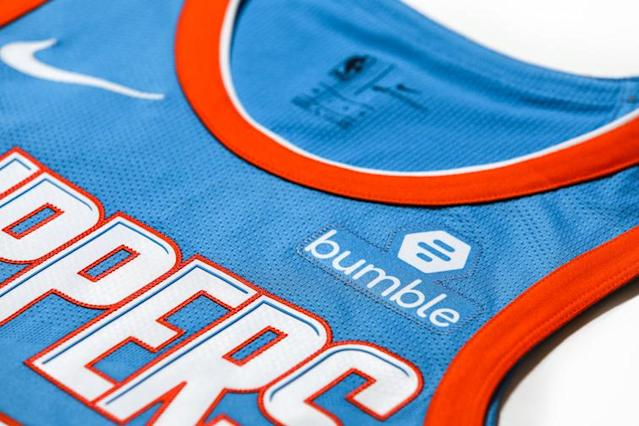The Clippers have signed a jersey patch deal with the female-forward dating app Bumble. (LA Clippers)