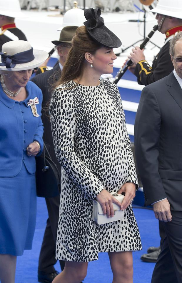 SOUTHAMPTON, ENGLAND - JUNE 13: Catherine The Duchess of Cambridge attends the Princess Cruises ship naming ceremony of, The Royal Princess at Ocean Terminal on June 13, 2013 in Southampton, England. (Photo by Julian Parker/UK Press via Getty Images)