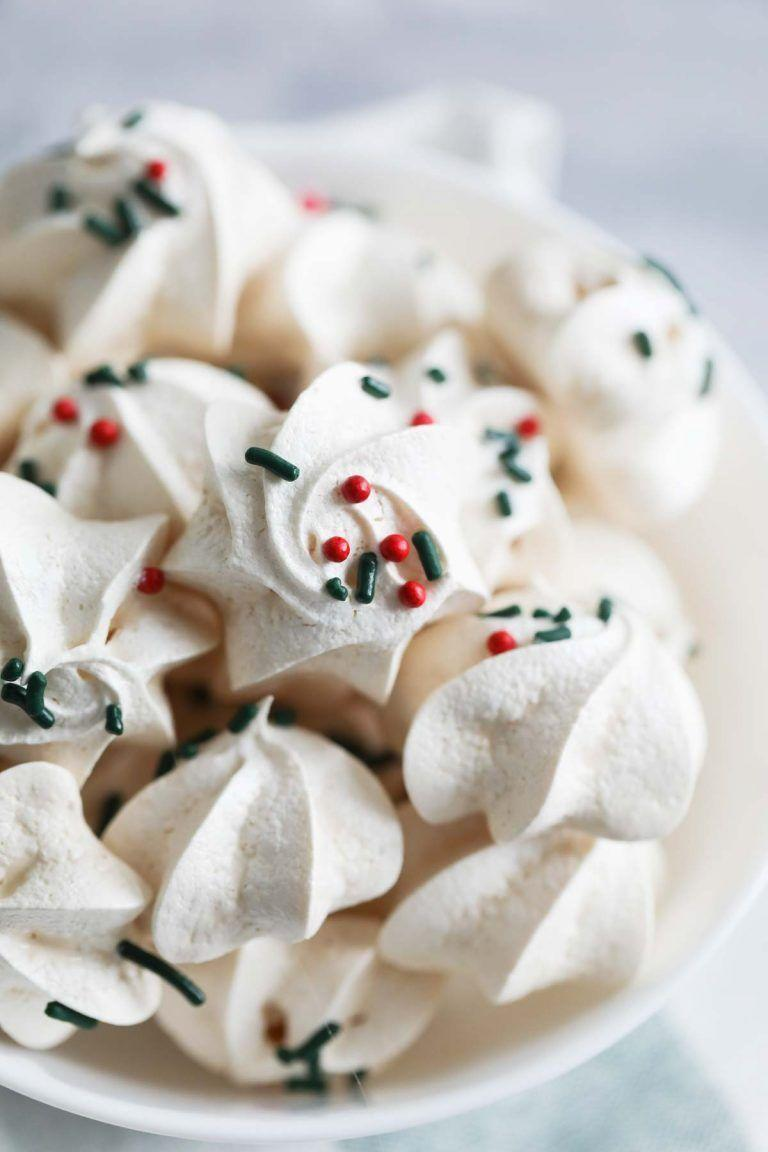 """<p>Switch up your cookie offerings with these cute meringue cookies that are <em>so</em> easy to make with just five ingredients!</p><p><strong>Get the recipe at <a href=""""https://www.tasteandtellblog.com/meringue-cookies/"""" rel=""""nofollow noopener"""" target=""""_blank"""" data-ylk=""""slk:Taste and Tell Blog"""" class=""""link rapid-noclick-resp"""">Taste and Tell Blog</a>.</strong></p><p><strong><a class=""""link rapid-noclick-resp"""" href=""""https://www.amazon.com/Circulon-Nonstick-Bakeware-2-Piece-Gray/dp/B0093JW3E0/ref=sxin_5_ac_d_pm?tag=syn-yahoo-20&ascsubtag=%5Bartid%7C10050.g.647%5Bsrc%7Cyahoo-us"""" rel=""""nofollow noopener"""" target=""""_blank"""" data-ylk=""""slk:SHOP BAKING SHEETS"""">SHOP BAKING SHEETS</a><br></strong></p>"""