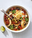 """<p><b>Recipe: <a href=""""https://www.southernliving.com/syndication/slow-cooker-chicken-taco-soup"""" rel=""""nofollow noopener"""" target=""""_blank"""" data-ylk=""""slk:Slow-Cooker Chicken Taco Soup"""" class=""""link rapid-noclick-resp"""">Slow-Cooker Chicken Taco Soup</a></b></p> <p>We love offering plenty of topping like cheese, sour cream, jalapenos, hot sauce, and fresh sliced avocado.</p>"""