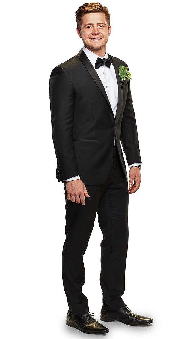 MAFS Mikey in tuxedo in wedding pic