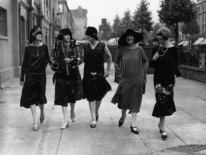 <p>These youthful ladies hit the town, modeling some flapper costume inspiration your squad will be sure to copy next Halloween. </p>