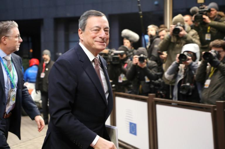 European Central Bank head Mario Draghi says Europe's economic recovery is